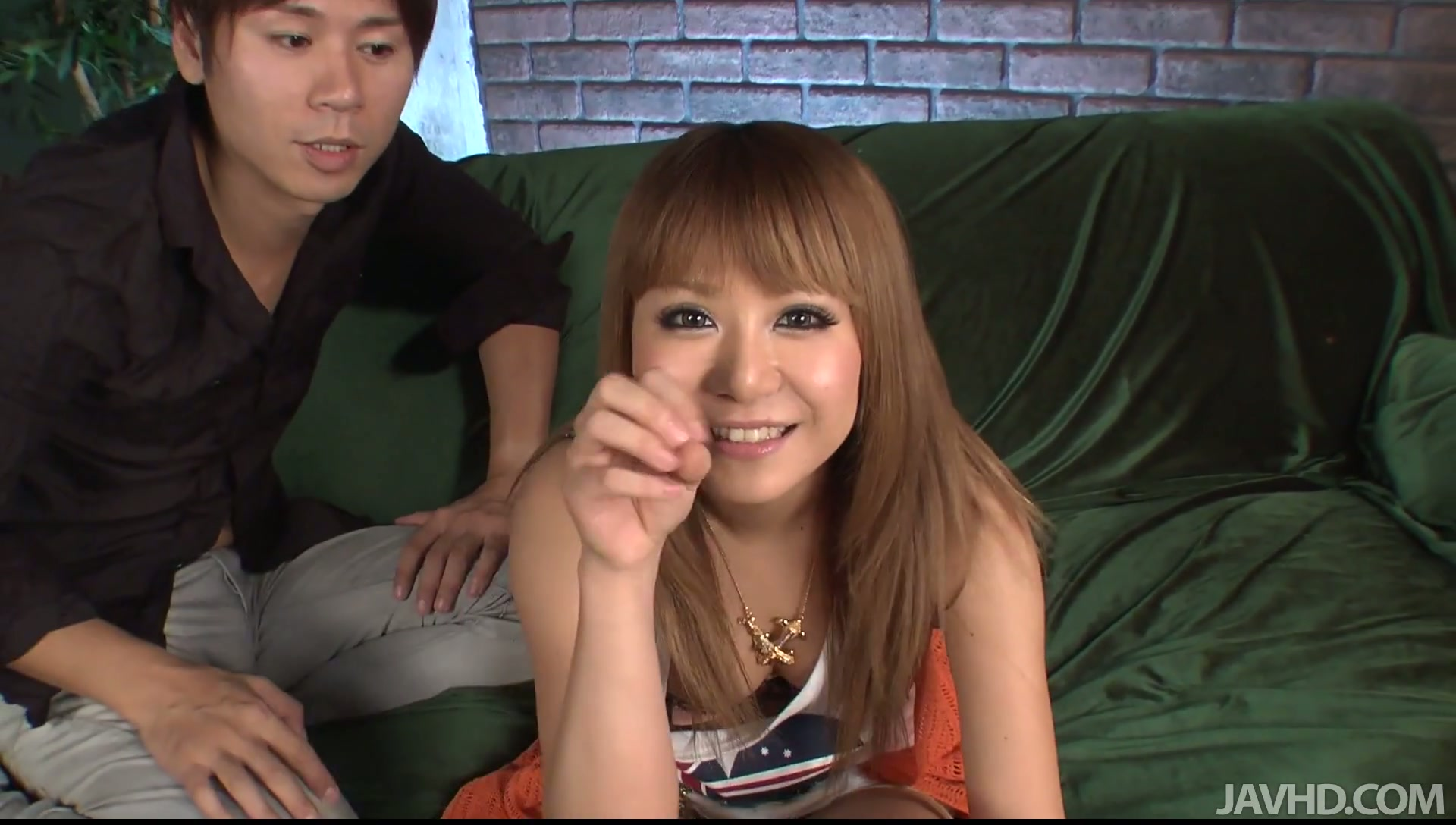 Hot Japanese teen is very proud of her new tattoo