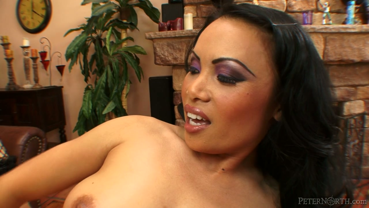 Exotic brunette chick Marco Banderas sucks massive dick on the table