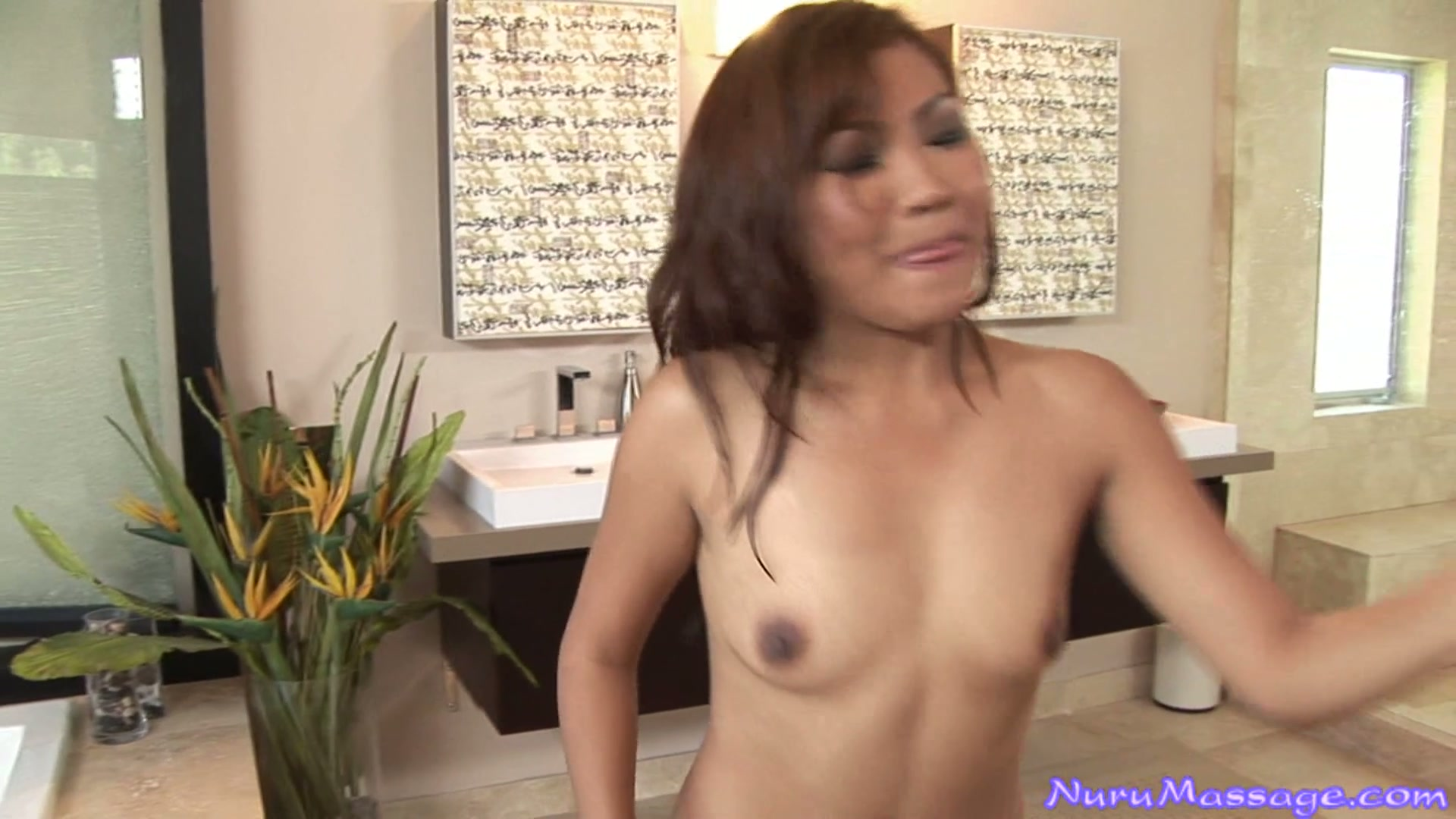 Sexy japanese babe Lana Violet fucks the cock in a spa