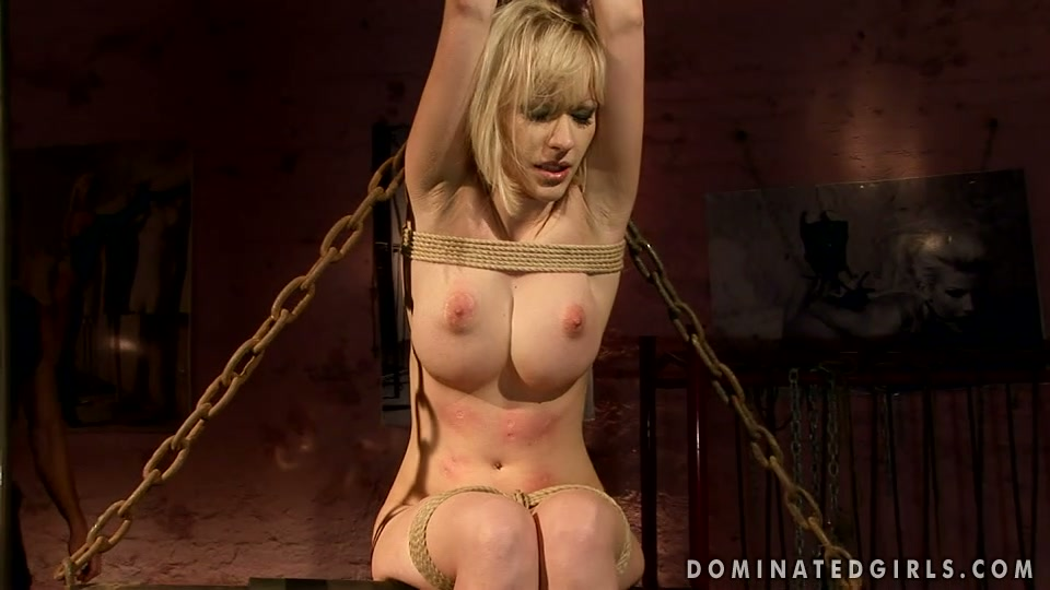 Blonde whore screams wild getting banged hard in filthy BDSM porn video