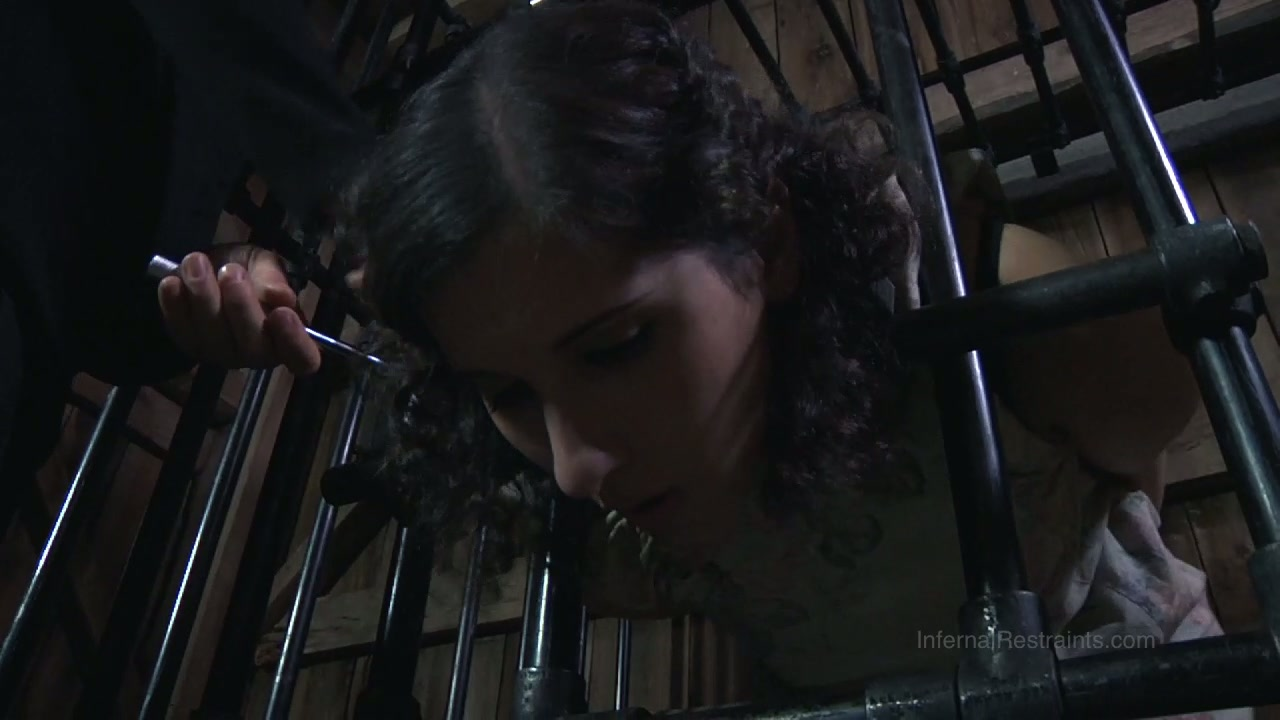 Chubby porn slut Marina is caught in a cage in kinky BDSM porn video