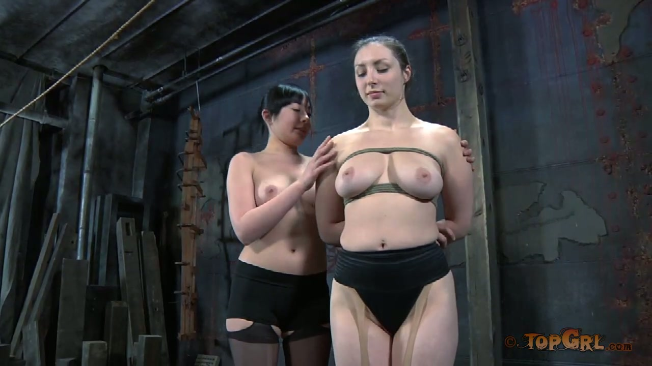 Nyssa Nevers and her busty friend trying out BDSM games