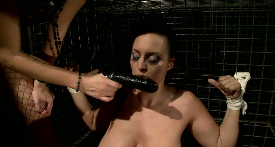 Big titted trollop is punished and sexually tortured in kinky BDSM porn clip
