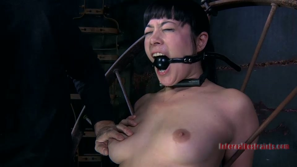 Pussy and nipples pinching time with obedient slave Nyssa Nevers