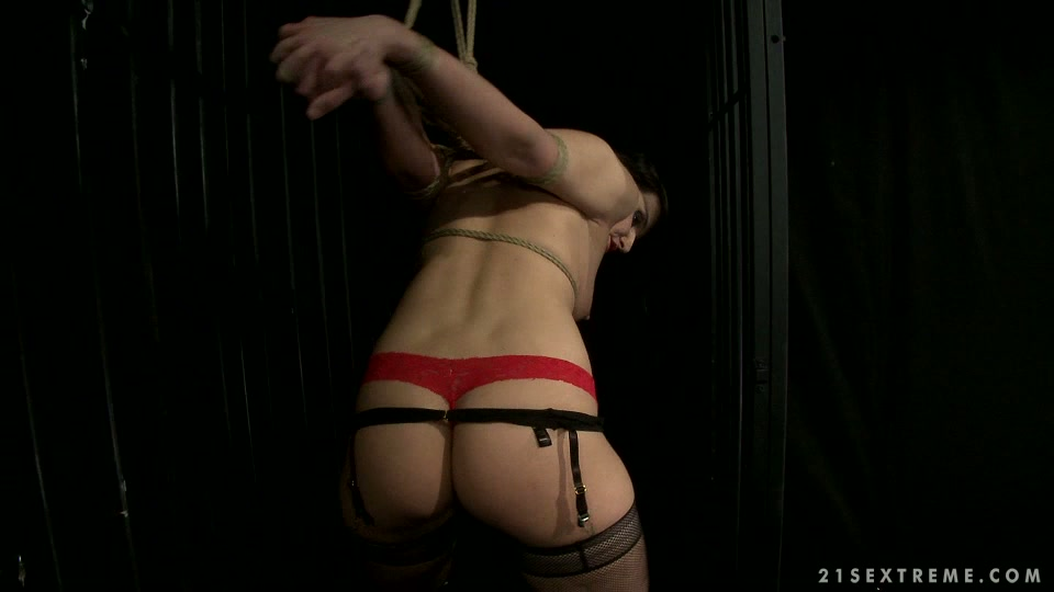 Daring dark head chick is sexually tormented in dirty BDSM porn clip